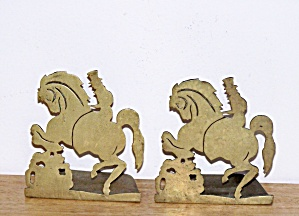 Gentleman On Horseback Bookends