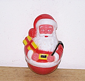 Santa Hard Plastic Roly Poly, 1963