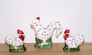 Rooster Cream, Salt & Pepper Set