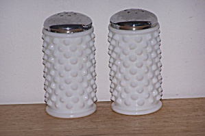 Hobnail Milk Glass Salt & Pepper Shakers