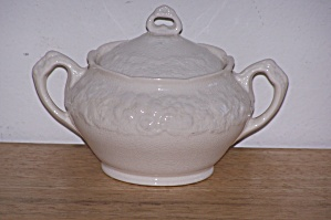 CROWN DUCAL, FLOENTINE, SUGAR BOWL W/LID (Image1)
