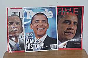 Obama On Covers Of 3 Magazines