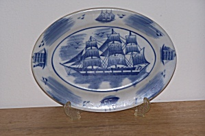 COTIABEIN CHINA PLATE W/SCHOONER (Image1)
