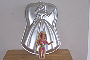 Wilton Barbie Doll Cake Pan W/ 2 Lay-ons