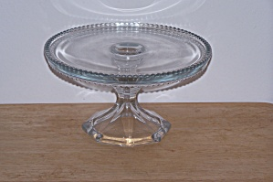 CLEAR GLASS CAKE PLATE (Image1)