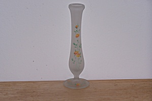 Frosted Glass Bud Vase