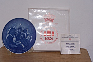 Bing & Grondahl 1971 Christmas Plate In Box