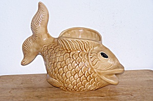 LARGE GLAZED FISH PLANTER (Image1)
