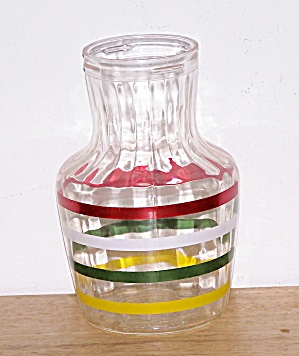 Orange Juice Decanter With Stripes
