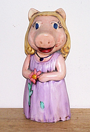 LARGE GIRL PIG IN PINK GOWN FIGURE (Image1)