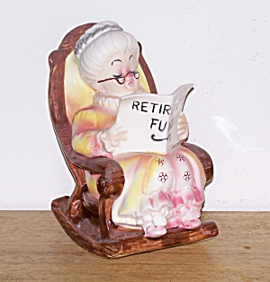 Grandma In Rocking Chair Bank