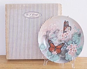 MONARCH BUTTERFLIES PLATE, LENA LIU, ARTIST (Image1)