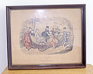 LA MODE ILLUSTREE, CHILDREN IN CARRIAGE PULLED BY GOAT (Image1)