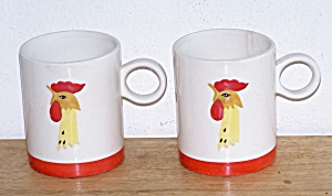 Holthoward Rooster Mugs