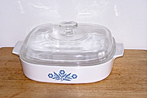 CORNING WARE 9 3/4 IN. SQ. PAN W/LID (Image1)
