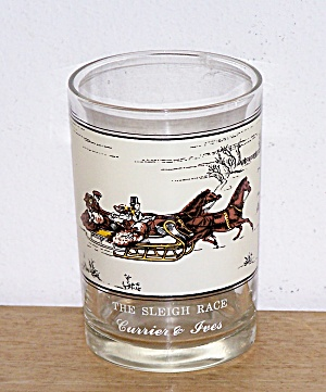 ARBY'S, THE SLEIGH RACE, CURRIER & IVES GLASS (Image1)