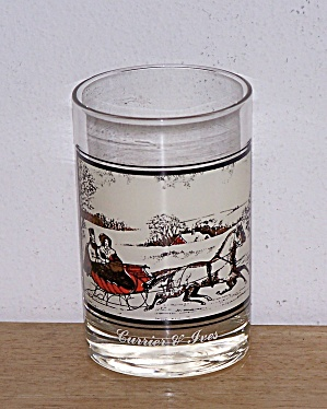 ARBY'S, THE ROAD IN WINTER, CURRIER & IVES GLASS (Image1)