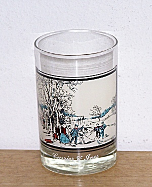ARBY'S, WINTER PASTIME, CURRIER & IVES GLASS (Image1)