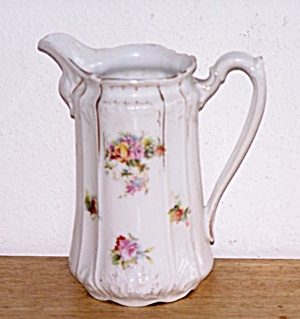 5 1/2 IN. TALL FLOWER DECORATED PITCHER (Image1)