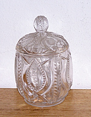 1898 PATTERN GLASS SUGAR (Image1)