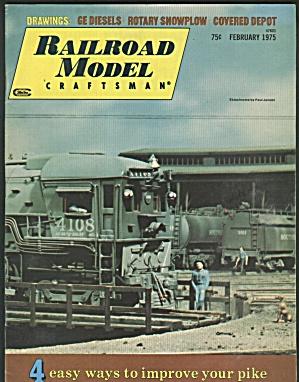 RAILROAD MODEL CRAFTSMAN,  FEBRUARY 1975 (Image1)