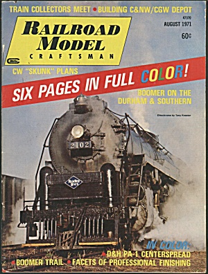 RAILROAD MODEL CRAFTSMAN, AUGUST 1971 (Image1)