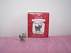 HALLMARK KEEPSAKE ORNAMENT HUSKY-FROSTY FRIENDS 2000 (Image1)