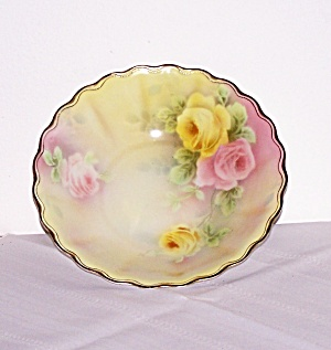 HAND PAINTED ROSE DESIGN BAVARIA BOWL (Image1)