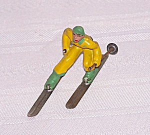 Boy In Yellow Skier Lead Figure