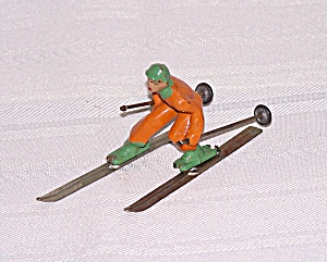 Boy In Orange Skier Lead Figure