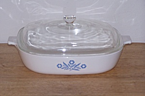 CORNING WARE, 10 IN. SQUARE PAN W/GLASS LID (Image1)
