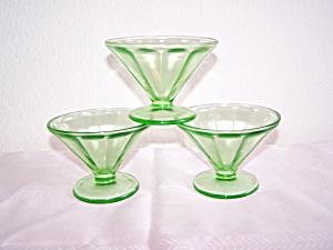 3 GREEN OPTIC SHERBETS (Image1)