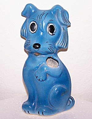 Chalk Ware Dog Toothbrush Holder