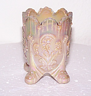 FOOTED IRIDESCENT GLASS TOOTHPICK HOLDER (Image1)