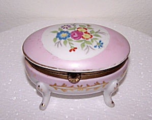 HINGED PORCELAIN BOX, FLOWER DESIGN (Image1)