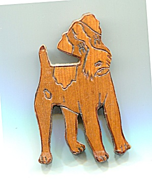 Wooden Dog Pin