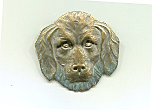 Dog Head Pin, Punched Metal