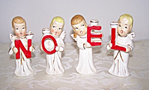 4 NOEL CANDLE HOLDERS, JAPAN (Image1)