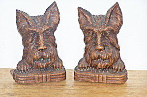 ORNA WOOD SCOTTIE BOOKENDS (Image1)