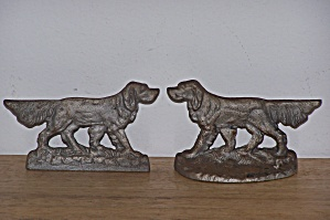 Metal Irish Setter Dog Bookends