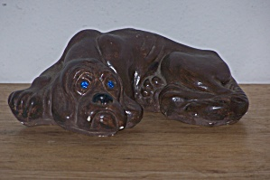 Soulful Plaster Pup W/gem Eyes
