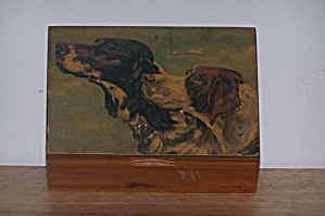 Setters On Top Of Cedar Box