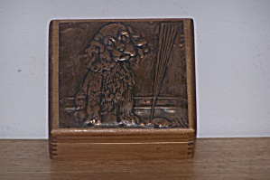 Pressed Copper Sheet Of Dog On Box