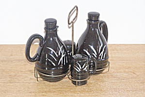 4 Pc. Japan Condiment Set In Holder