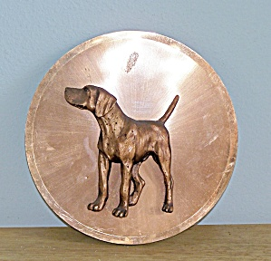 Copper Raised 3-d Dog On Disc