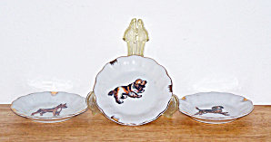 3 Ash Trays, Dog Pictures