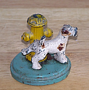 Metal Dog & Fire Hydrant