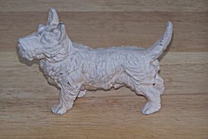White Male Scottie Metal Figurine