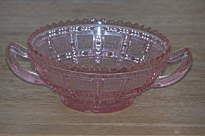 Double Handled Pink Depression Bowl