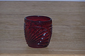 Ruby Red Glass Toothpick/match Holder